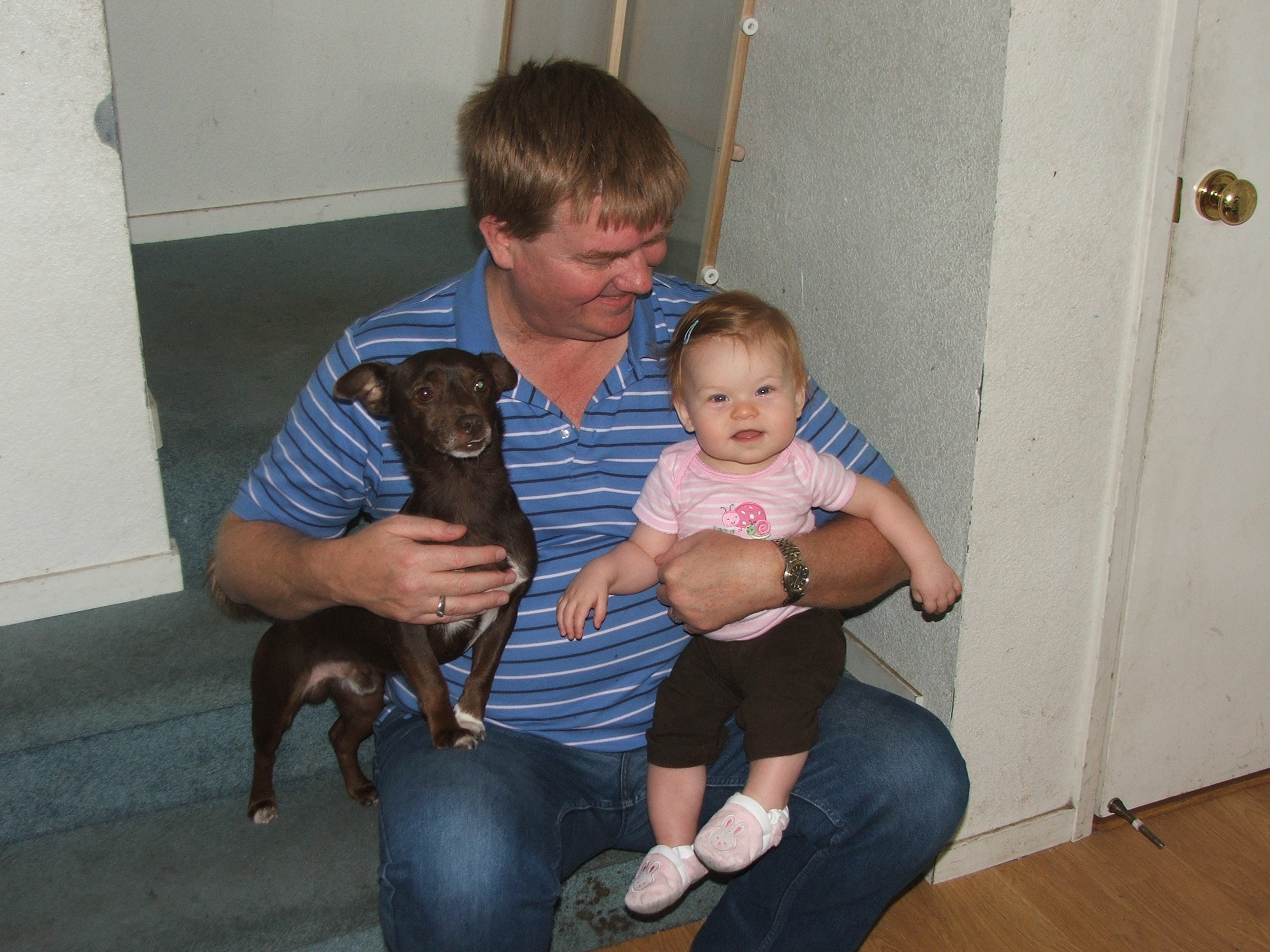Uncle Mark w/ Violet & Buddy