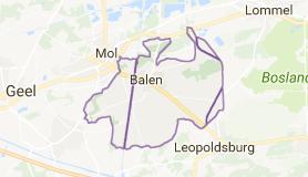 Kaart luchthavenvervoer in Balen