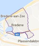 Kaart luchthavenvervoer in Bredene