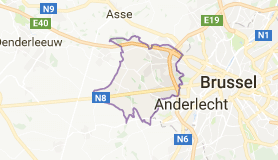 Kaart luchthavenvervoer in Dilbeek