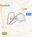 Kaart luchthavenvervoer in Duffel