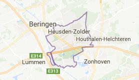 Kaart luchthavenvervoer in Heusden-Zolder