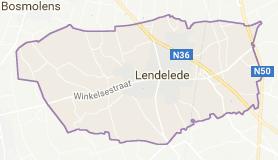 Kaart luchthavenvervoer in Lendelede