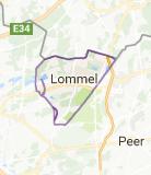 Kaart luchthavenvervoer in Lommel