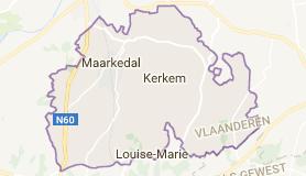 Kaart luchthavenvervoer in Maarkedal