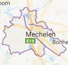 Kaart luchthavenvervoer in Mechelen