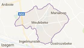 Kaart luchthavenvervoer in Meulebeke