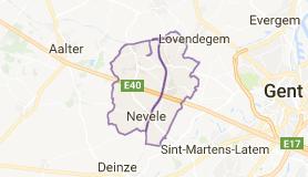Kaart luchthavenvervoer in Nevele