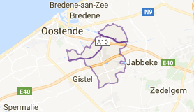 Kaart luchthavenvervoer in Oudenburg