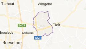 Kaart luchthavenvervoer in Pittem