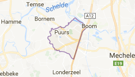 Kaart luchthavenvervoer in Puurs