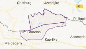 Kaart luchthavenvervoer in Sint-Laureins