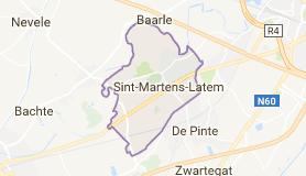 Kaart luchthavenvervoer in Sint-Martens-Latem