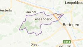 Kaart luchthavenvervoer in Tessenderlo