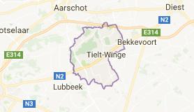 Kaart luchthavenvervoer in Tielt-Winge