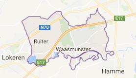 Kaart luchthavenvervoer in Waasmunster