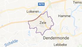 Kaart luchthavenvervoer in Zele