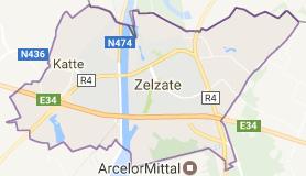 Kaart luchthavenvervoer in Zelzate