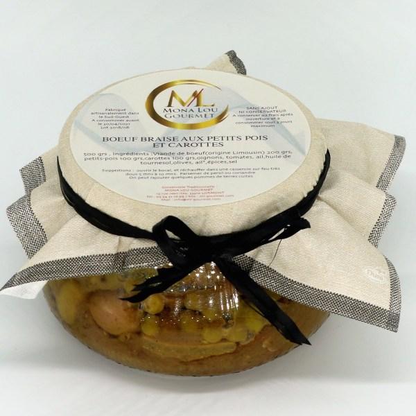 Marmite de bœuf braisé aux petit pois et carottes Mona lou gourmet
