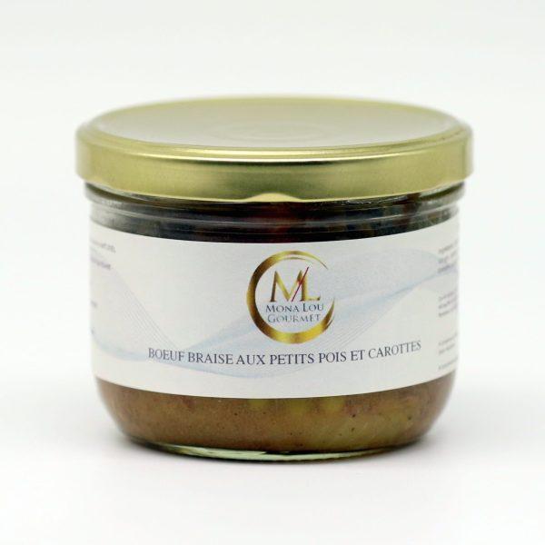 BOEUF BRAISE PETITS POIS CAROTTES 350 GRS mona lou gourmet