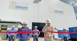 Plant Manager Bruce Seitz cutting the ribbon at the LiSTR Plant in El Dorado, Arkansas