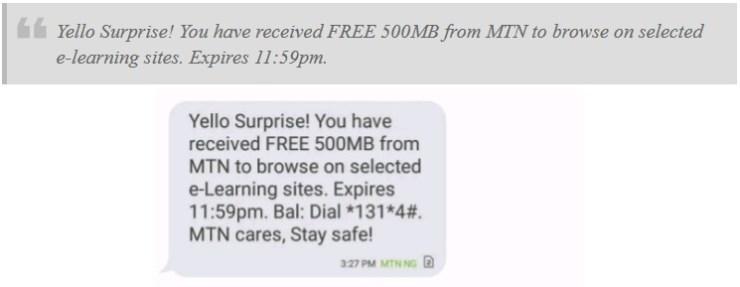 MTN Free 500MB on mPulse