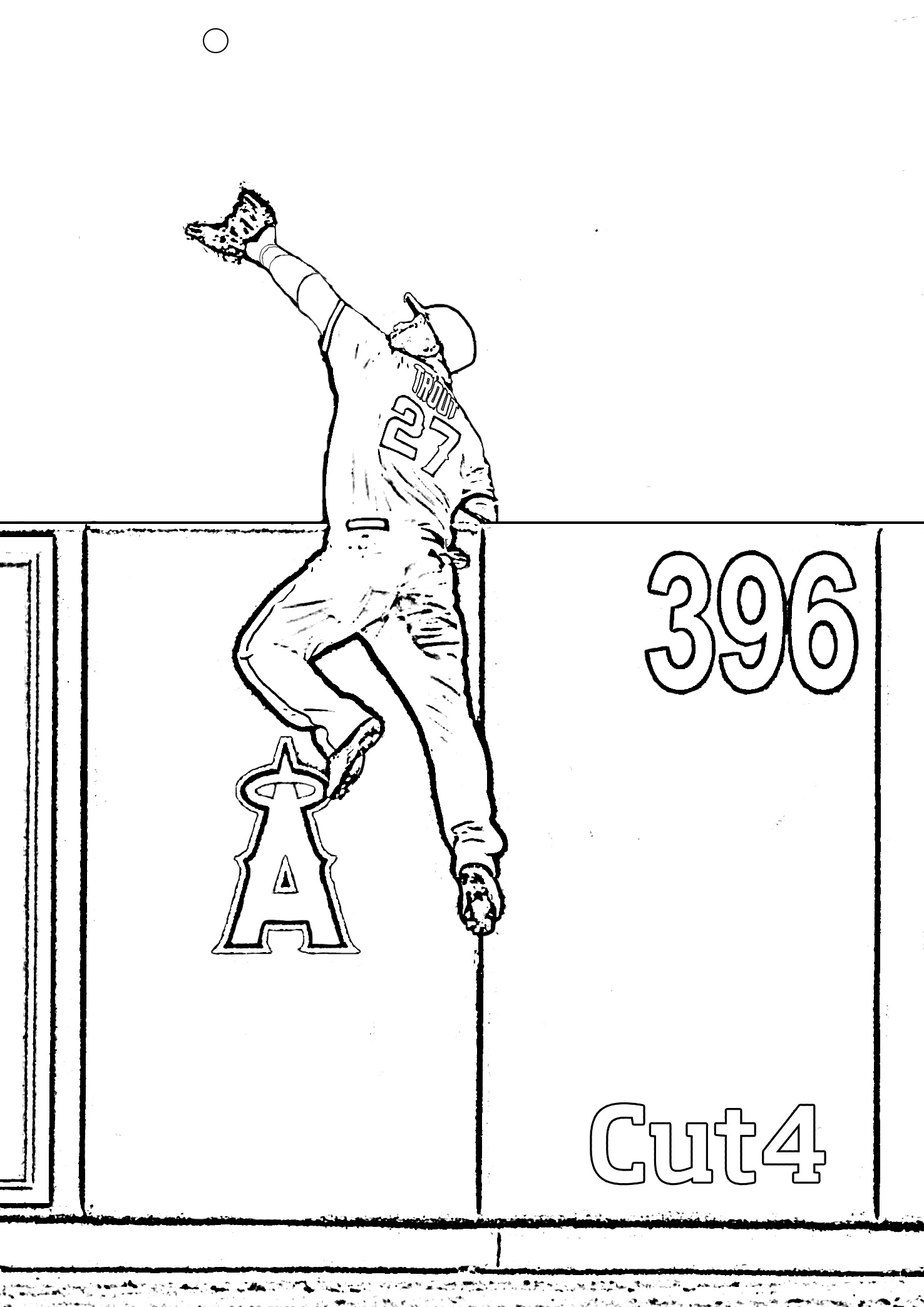 Printable L A Angels Coloring Book Pages