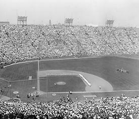 Baseball at the LA Coliseum