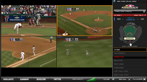 MLB.com, TBS and FOX present Quad Mode experience