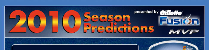 2010 Season Predictions presented by Gillette Fusion MVP