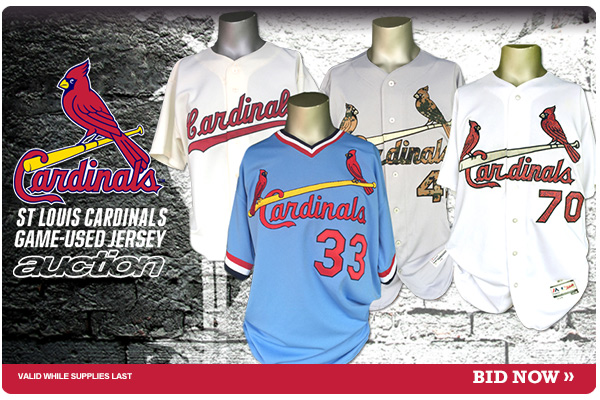 1d4c73dc9 Bid now on game-used jerseys from the St. Louis Cardinals 2016 season. This auction  features Memorial Day camo jerseys