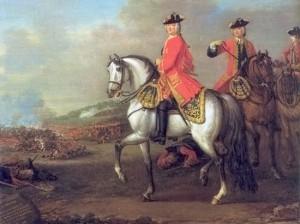 George II at Battle of Dettingen