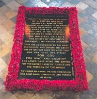 The Tomb of the Unknown Warrior (Courtesy of Westminster Abbey)