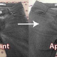 Transformer un pantalon taille mi-haute en taille plus basse