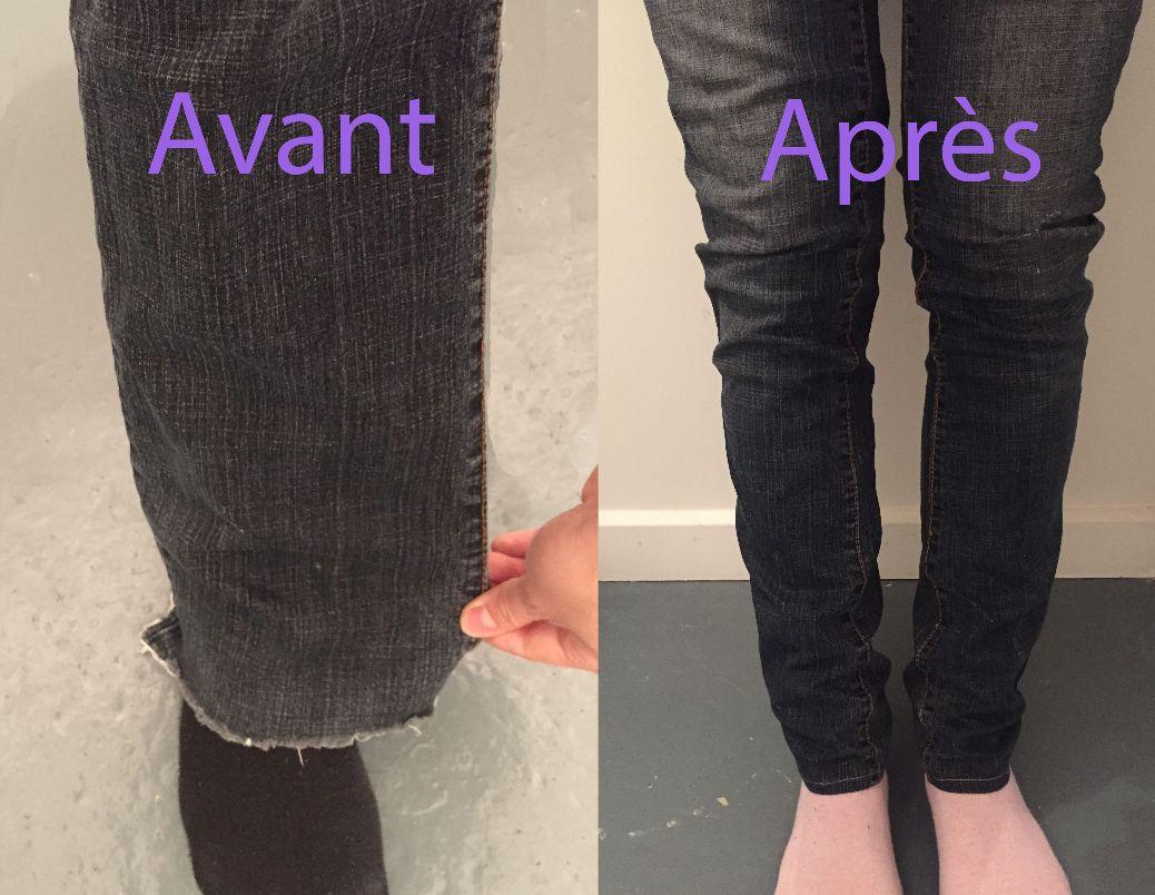 Modifier un pantalon large en slim
