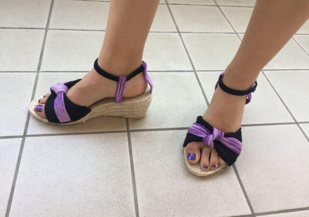 Mes chaussures au crochet