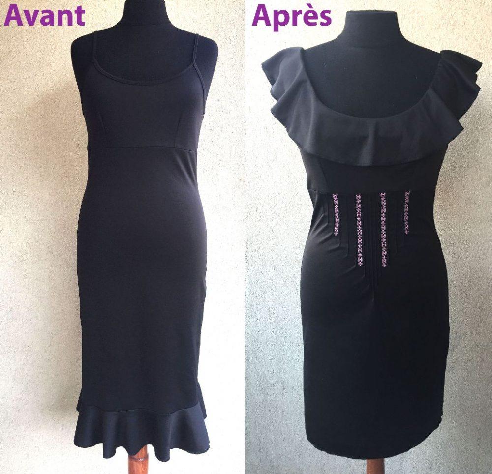 Une robe noire customisée