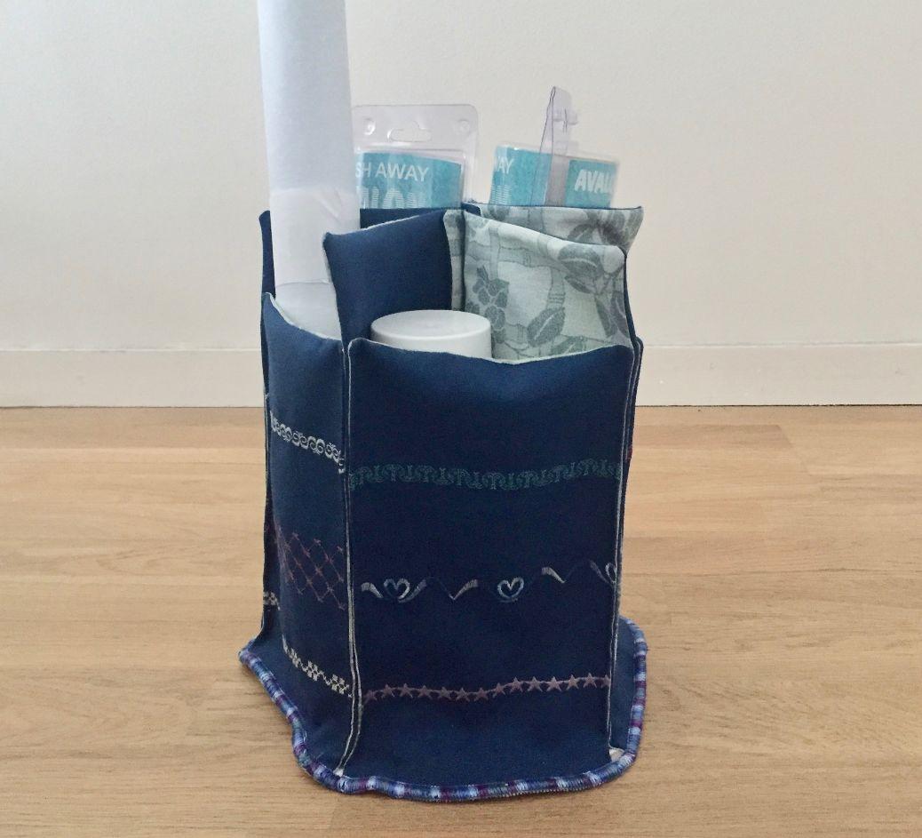 Boîte de rangement en tissu