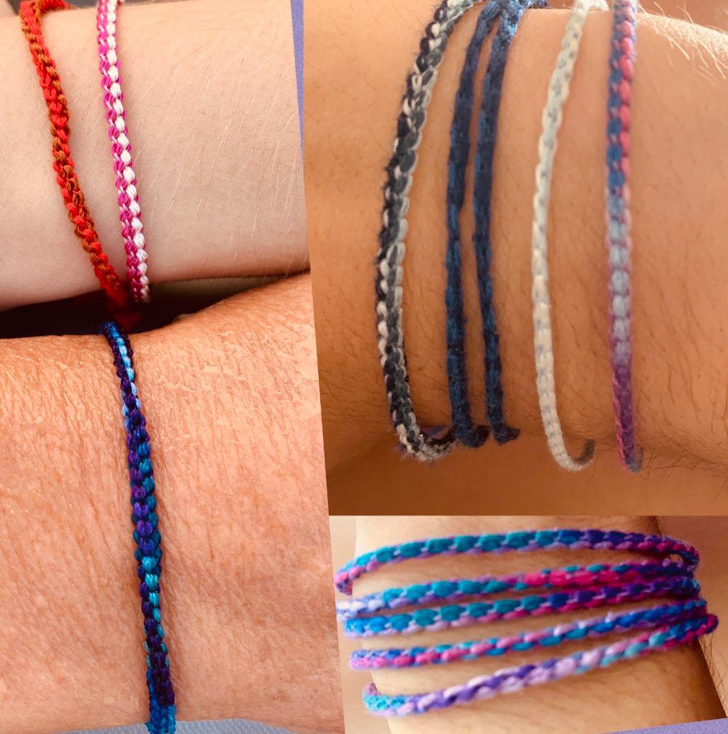 Faire des bracelets à la surjeteuse