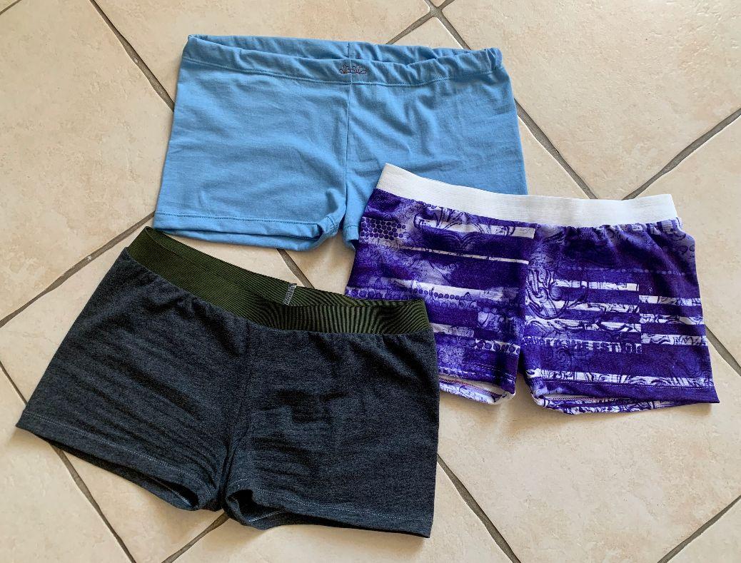 Trio de mini-shorts