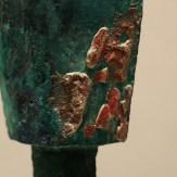 铜钩鑃(上有织物印痕)