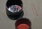 圆形漆木盒