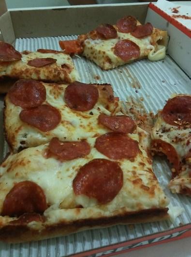 Pizza for dinner.