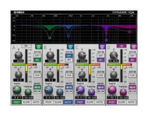 Dynamic EQ4 Plugin on Yamaha PM7