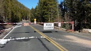 Trail Ridge Road closed for the winter at Many Parks Curve.