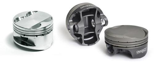 Različiti oblici čela klipa za različite namene (Honda, Diamond Racing Pistons)