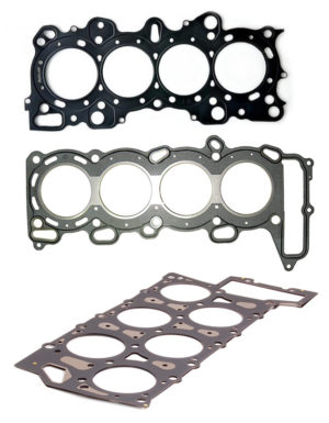 Razne verzije dihtunga glave - četiri otvora mogu značiti: 4-cilindrični redni ili V8. Ispod je diutung VR6 motora (Honda / Mazda / Volkswagen)
