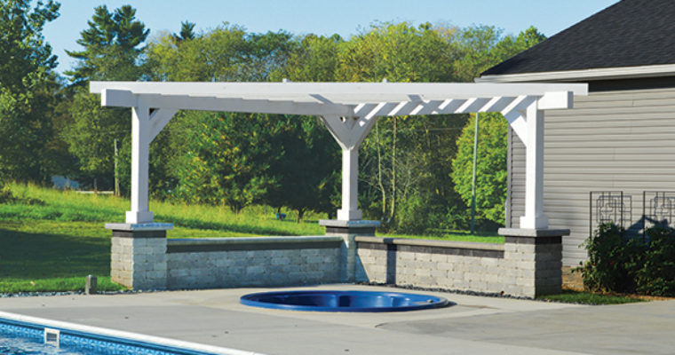 Triangle Pergola Over Hot Tub Landscaping Outdoor