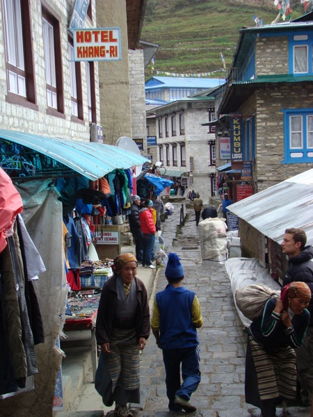 streets of namche