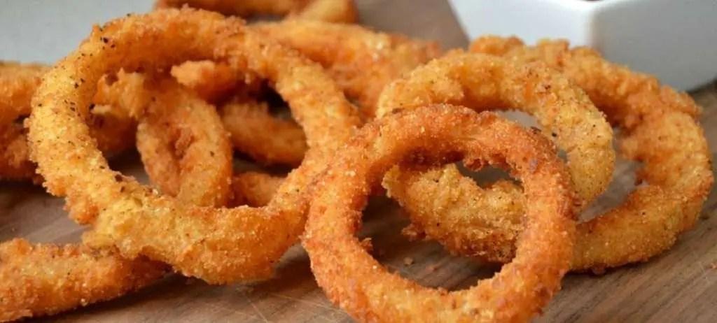 Anelli cipolla fritti